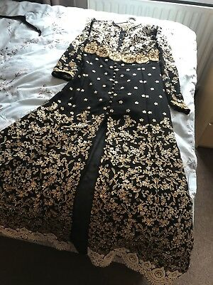 Asian/ Pakistani / Indian Embroidered Black Dress Designer / Party