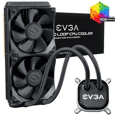 EVGA CLC 240 Liquid / Water CPU Cooler, RGB LED Cooling AM4, 1151, 2066, TR4