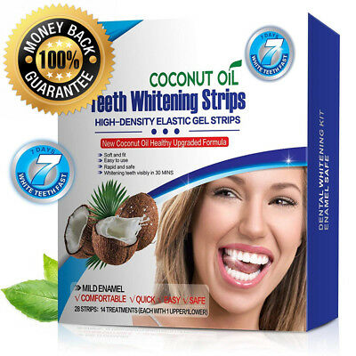 T Smile:) Teeth Whitening Strips with Natural Coconut Oil, Professional High...