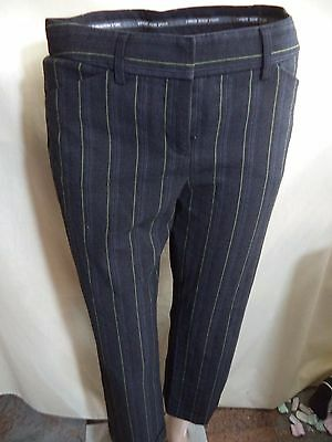 Express Editor Womans Dress Pants Sz 2: Black Pinstripe or Solid VGC