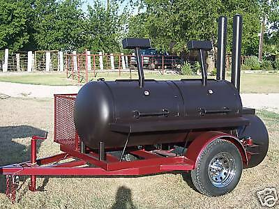 NEW BBQ pit smoker and Charcoal grill Trailer