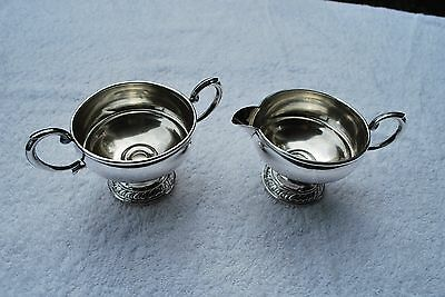 STERLING SILVER WEIGHTED CREAM AND SUGAR SET - Very Nice Set