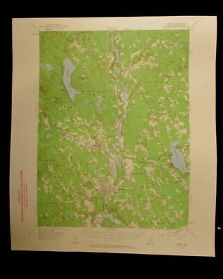 Anson Maine 1960 vintage USGS Topographical chart map