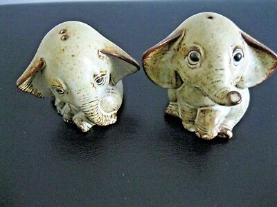Cute Collectable Gempo Elephant Salt And Pepper Shakers.