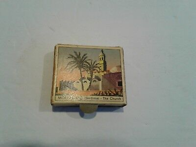 Vintage Matches Box  Italian Scenes Sceneries - Shepherd & Monserrato Sardinia