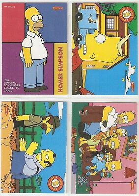 Promo trading card set of 4 - 1996 Tempo Simpsons Down Under