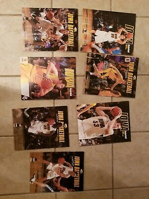 Iowa Basketball programs 7 in lot see photos