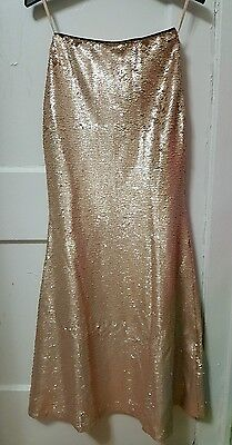 e1e7be691 Women's Lucy Paris Gold Strapless Sequins Long Party Dress Formal Size XS  NWT
