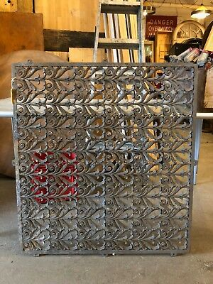 Antique Architectural  Building Salvage Painted Iron Railing Section