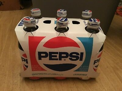 Pepsi Cola Vintage 80s 6 Pack 16 oz 1985 Never Opened Styrofoam Wrap Package