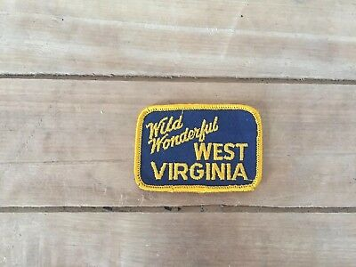 Vintage NOS Patch - Wild Wonderful West Virginia Unused
