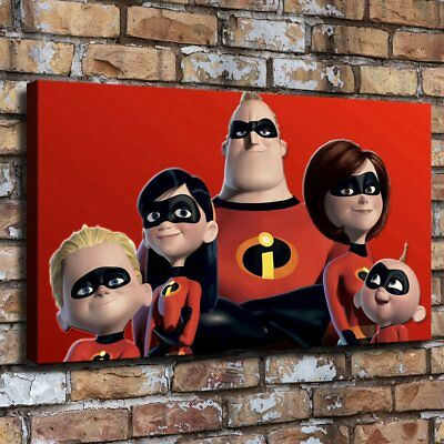 "12""x22"" The Incredibles Canva prints Painting Home Decor Picture Wall art Poster"