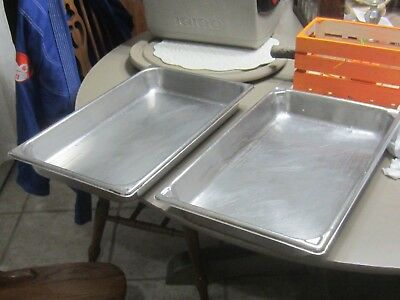 2 Stainless Steel Steam Prep Table Chafing catering Dish Food Pan 8qt
