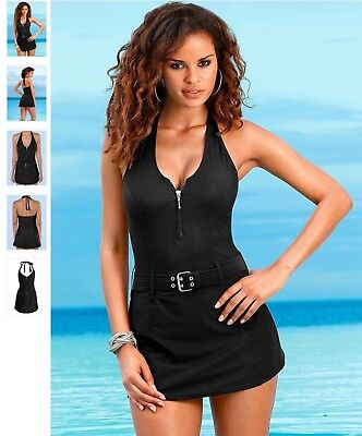 Lascana For Venus Slimming Swim Dress Sz 12 Black