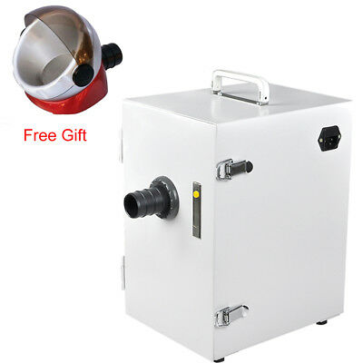 Dental Lab Digital Single-Row Dust Collector Vacuum Cleaner 370W + Free Gift CE