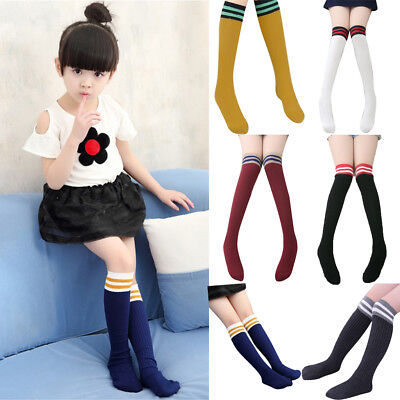 Baby Toddlers Girls Boy Knee High Socks Tights Leg Warmer Stockings For Age 5-10