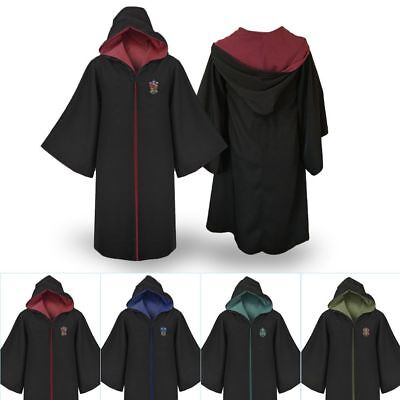 Harry Potter Gryffindor Slytherin Hufflepuff Ravenclaw Robe Cosplay Costume Coat