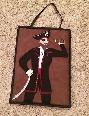 PIrate fabric sign kids bedroom brown red black