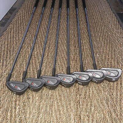PING Eye2+ Plus Golf Club Iron Set 4-PW RH Orange Dot KT-M Stiff Steel Exc Cond
