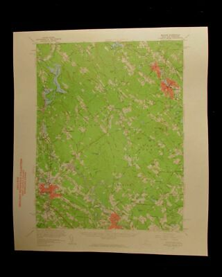 Berwick Maine Rochester New Hampshire 1961 vintage USGS Topographical chart map