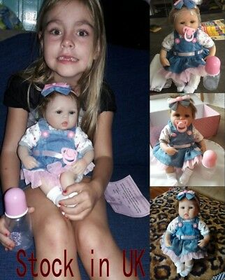 """Vinyl Silicone Reborn Doll Real Life Like Looking 18"""" Newborn Baby Dolls Toys"""