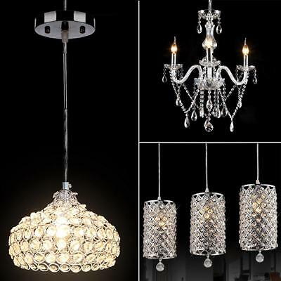 Modern Crystal Chandelier Ceiling Light Pendant Lamp Fixture For Kitchen Bar PHC