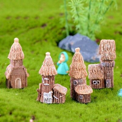 Resin Mini Tower Castle Aquarium Ornament Fish Tank Decoration Accessories New