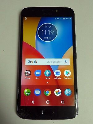 MOTOROLA MOTO E4 Plus - 32GB - Iron Gray UNLOCKED - WORKS WELL, cracked  glass