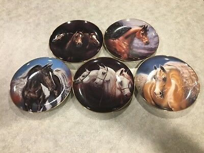 Danbury Mint Horse Collector Plates Noble and Free by Susie Morton - Set of 5