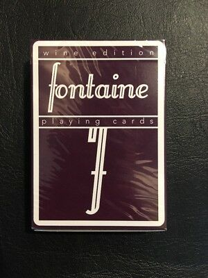 Fontaine Wine Edition Playing Cards - Rare Sold Out - 1/5,000 - SEALED NEW