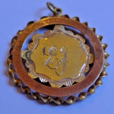 1927-28 9ct Gold Medal Awarded for Cricket - Named - 1.8 grams weight