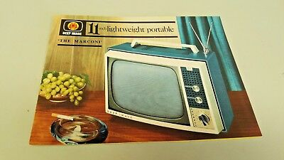 "1965 AWA 11"" PORTABLE TV TELEVISION  Original Sales Brochure"