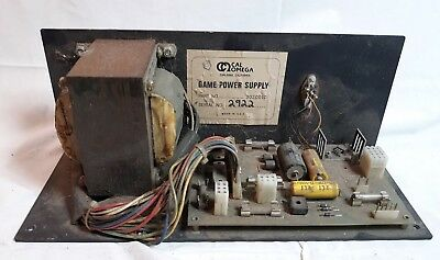 Vintage CAL OMEGA Arcade Game Power Supply Isolation Transformer WORKING