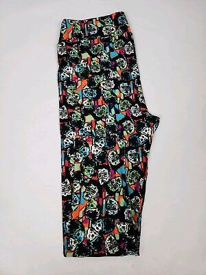 *~NEW LuLaRoe HALLOWEEN Leggings FRANKENSTEIN BRIDE SPOOKY TC2 Sz 18+ L@@K~*