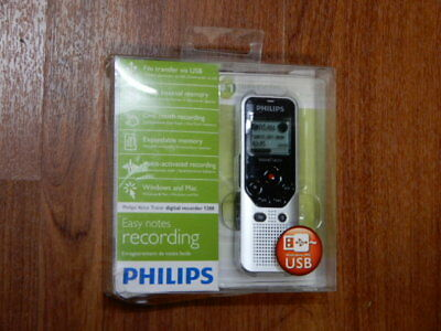 New - Philips Voice Tracer DVT1200 4GB Digital Voice Recorder - 9120056500055