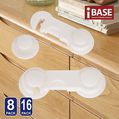 Baby Safety Lock Adhesive Drawer Door Cupboard Cabinet Child Kid Cute White