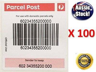 100 X Australia Post Tracking Label AUSPOST Tracked Shipping Stickers