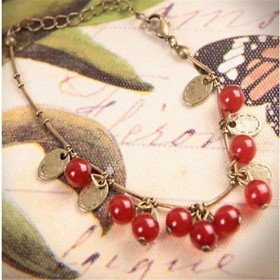 Chain Ruby Charms Bracelet Jewelry Bracelet Girls Bangles Women Gift