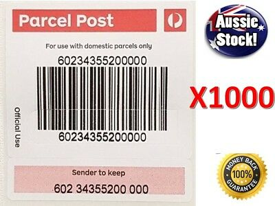 1000 X Australia Post Tracking Label AUSPOST Tracked Shipping Stickers