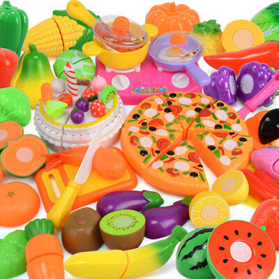 Kids Kitchen toy Pretend Role Play Fruit Vegetable Food Cutting Toys Children