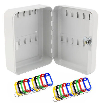 20 Key Security Wall Mounted Hook Cabinet Safe Box Secure Lock Storage Case