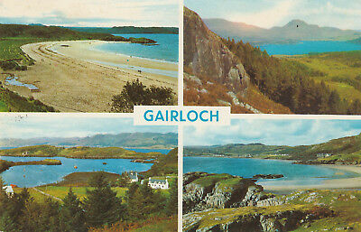 Loch Maree Badachro Bay Gairloch Picture Scotland c.1969 Printed Posted Postcard