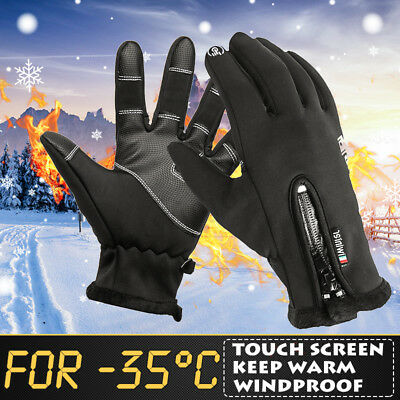 -35 Degree Winter Gloves Thermal Skiing Glove Touch Screen Waterproof Windproof