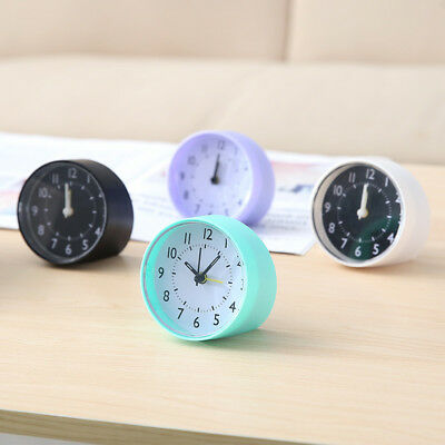Round Small Cute Bed Compact Retro Desk Travel Alarm Clock Portable Clocks HFJ