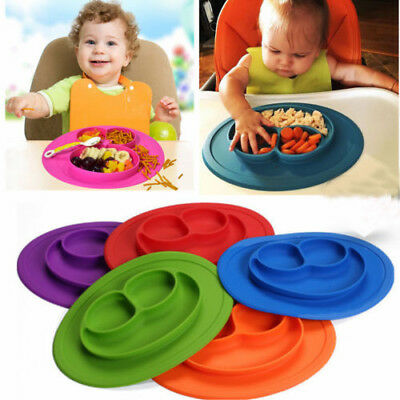 Cute Bowl Silicone Baby Kids Children Suction Table Mat Food Tray Placemat Plate