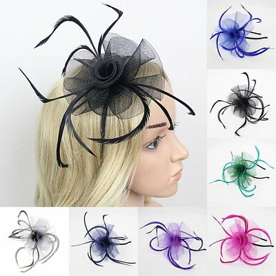 Ladies Headband with Feather Looped Alice Band Fascinator Wedding Royal Ascot UK
