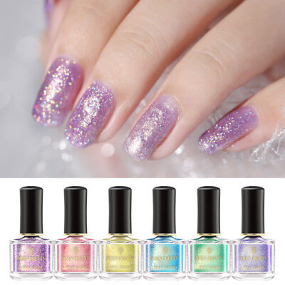 BORN PRETTY 6ml Glitter Nail Polish Sequin Holographic Nail Art Varnish