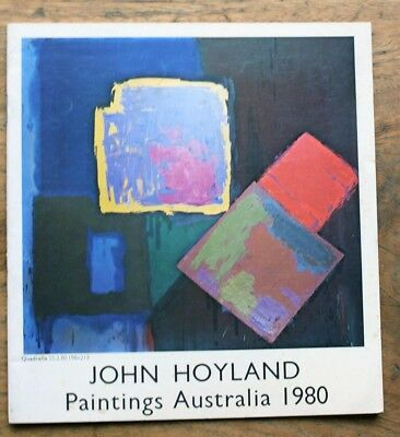 OLD CATALOGUE John Hoyland exhibition Paintings Australia 1980 Melb Uni Gallery