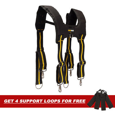 MELOTOUGH Heavy Duty Tool Braces Suspenders Adjustable Braces For Tool belt