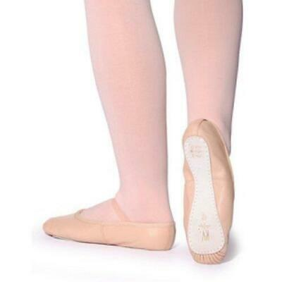 Roch Valley Ophelia Pink  Leather Ballet Shoes, elastics attached - Baby 5 - 11A